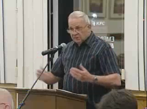 "Bill Weland to County Council:  ""[Walmart] hasn't met regulations till date....  We don't need them. We don't want them."""