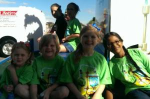 Fans of Harford County Library gathered on the Float for the Parade!