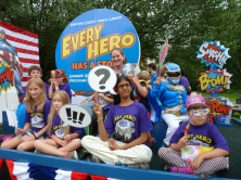 Every Hero Needs a Story. Harford County Public Library at the 4th of July Parade on Main Street, Bel Air.