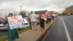 Protest outside the Harford County Council May 7 2013.  Read more in the Baltimore Sun, May 9 2013.