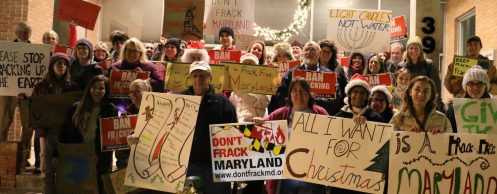 Rally to Ban Fracking, Bel Air Town Hall.